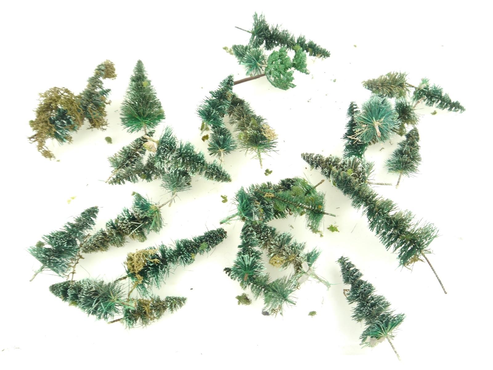 E132 H0 Landschaftsbau Bäume Nadelbäume Tannen Schneetannen / ca. 33 g