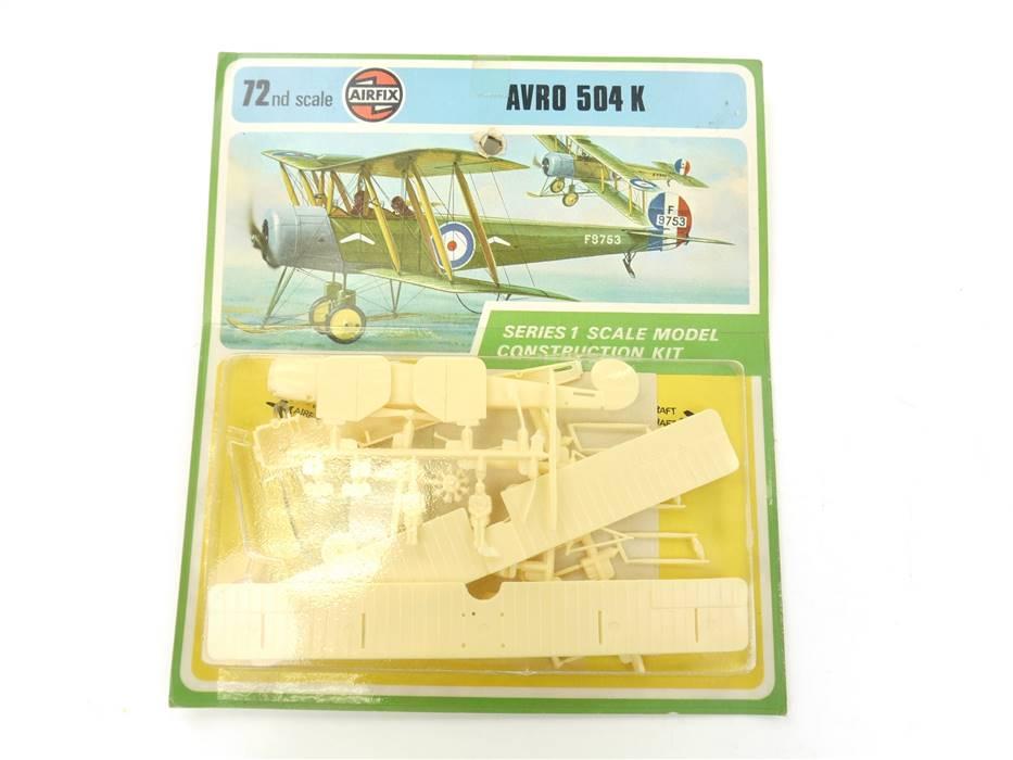 "E332 Airfix 01048-5 Bausatz Militärflugzeug ""AVRO 504 K"" 1:72 *NEU*"