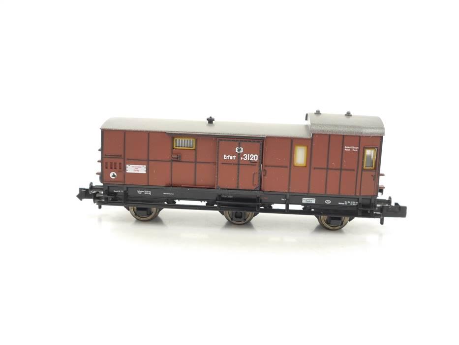 E320 Fleischmann N 8810 Personenwagen Gepäckwagen 3120 K.P.E.V. *TOP*