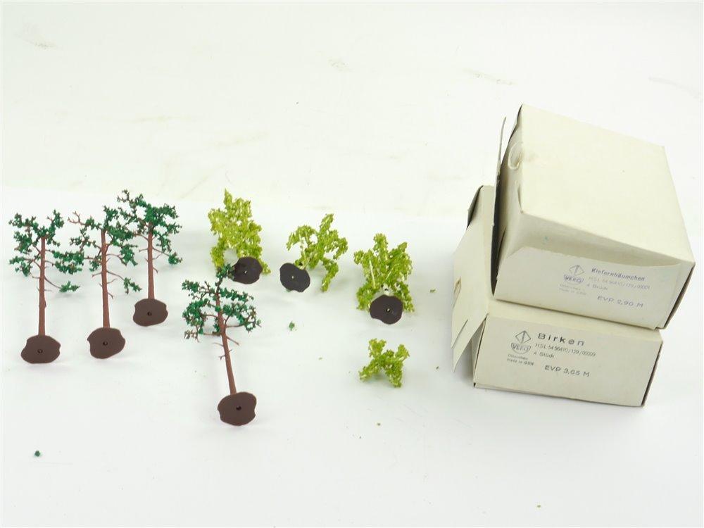 E247 Vero H0 TT 7x Landschaftsbau Bäume Birken Kiefernbäumchen / ca. 9-12,5 cm