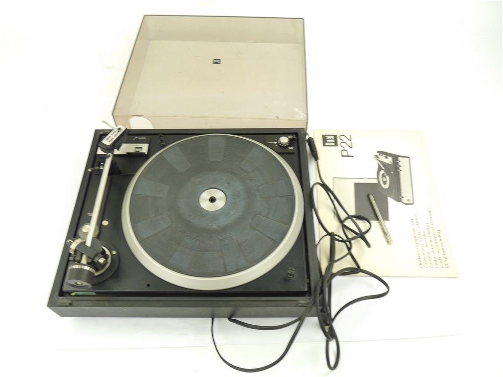 E160 Dual P22 Plattenspieler tragbares Koffergerät mit Lautsprecher
