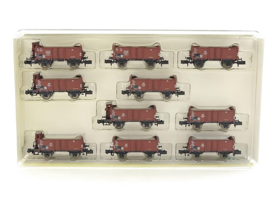 E294 Minitrix N 15047 Güterwagen-Set 10-tlg. Schotterwagen DB *TOP*