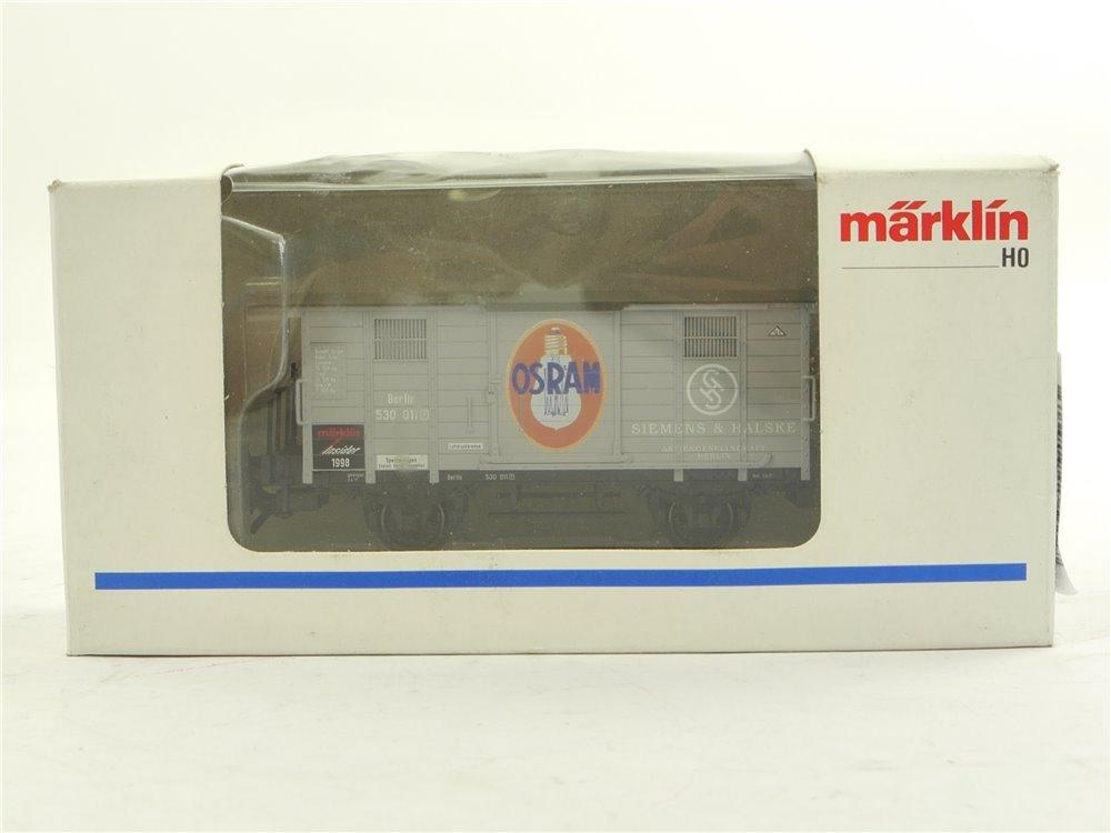 """E261 Märklin Insider H0 48853 Güterwagen """"Osram"""" Jahreswagen 1998 / NEM *TOP*"""
