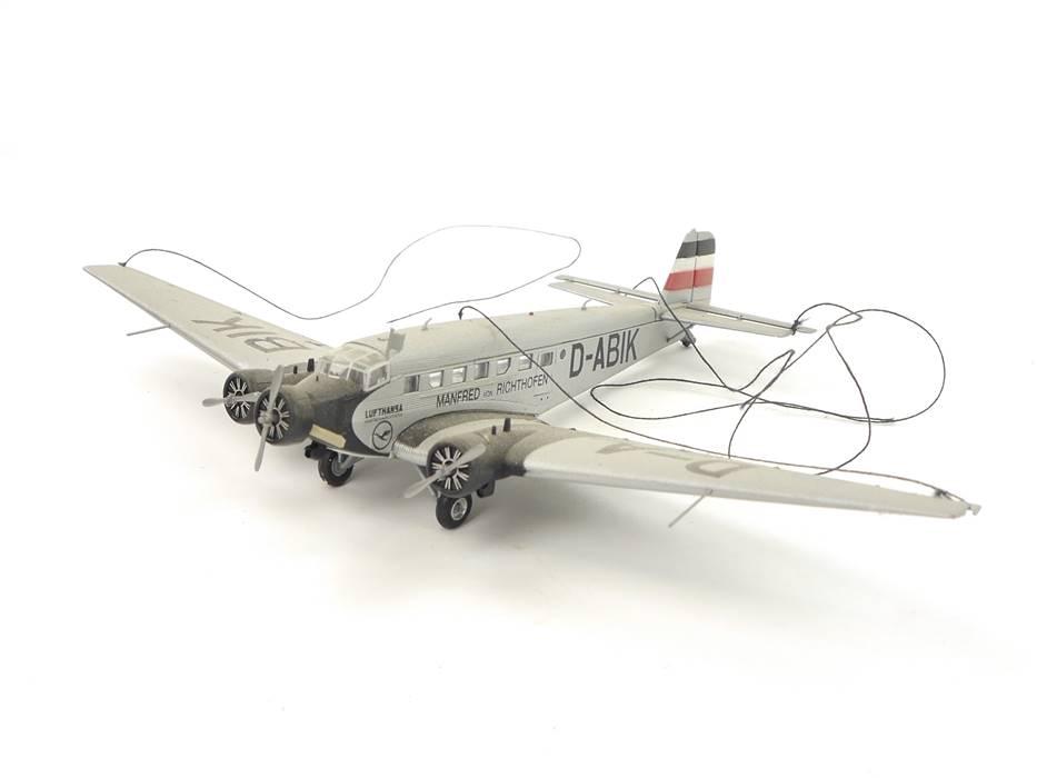 E320 Herpa Flugzeugmodell Modellflugzeug Junkers Ju 52 von Richthofen 1:160