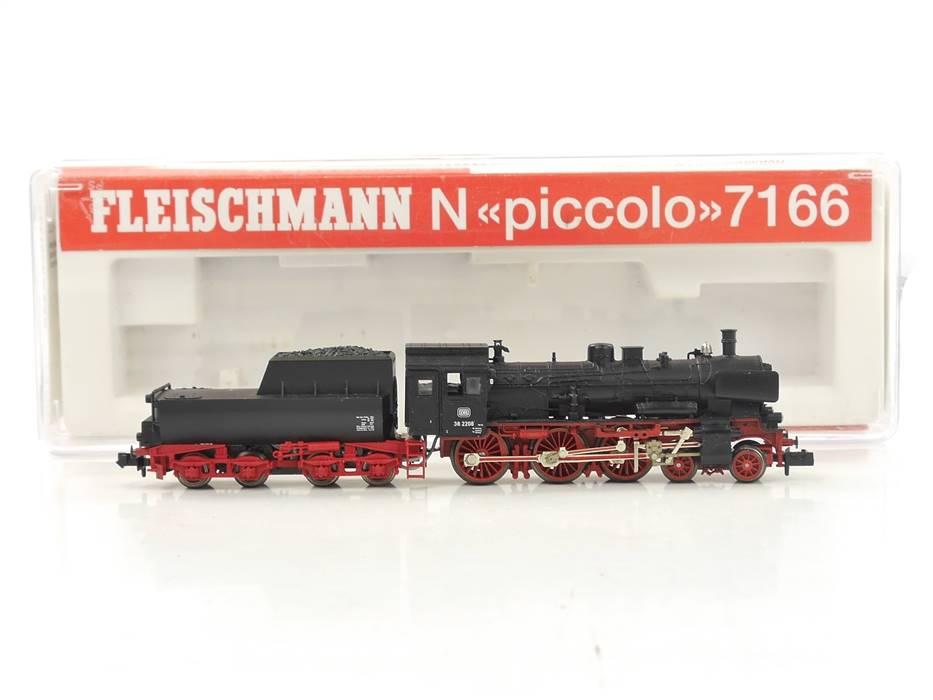 E307 Fleischmann N 7166 Dampflok mit Wannentender BR 38 2208 DB