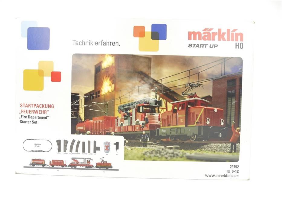 "E324 Märklin start up H0 29752 Startset ""Feuerwehr"" mit E-Lok 112 / NEM Digital"