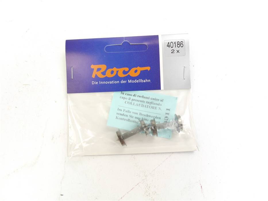 E322 Roco H0 40186 Ersatzteil 2-tlg. Radsatz Achse mit Widerstand / 11 mm *NEU*