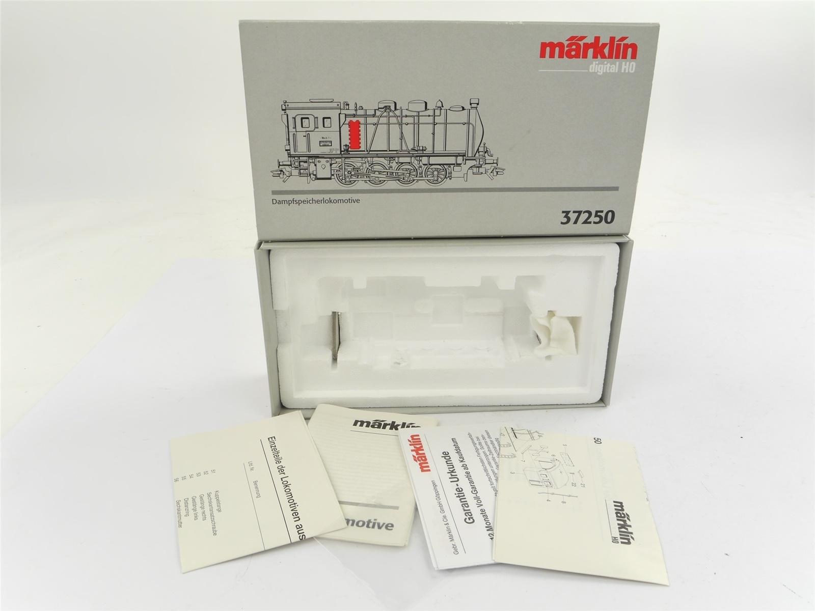 E132 Märklin H0 37250 Leerverpackung Leerkarton OVP für Dampfspeicherlok Werk 1