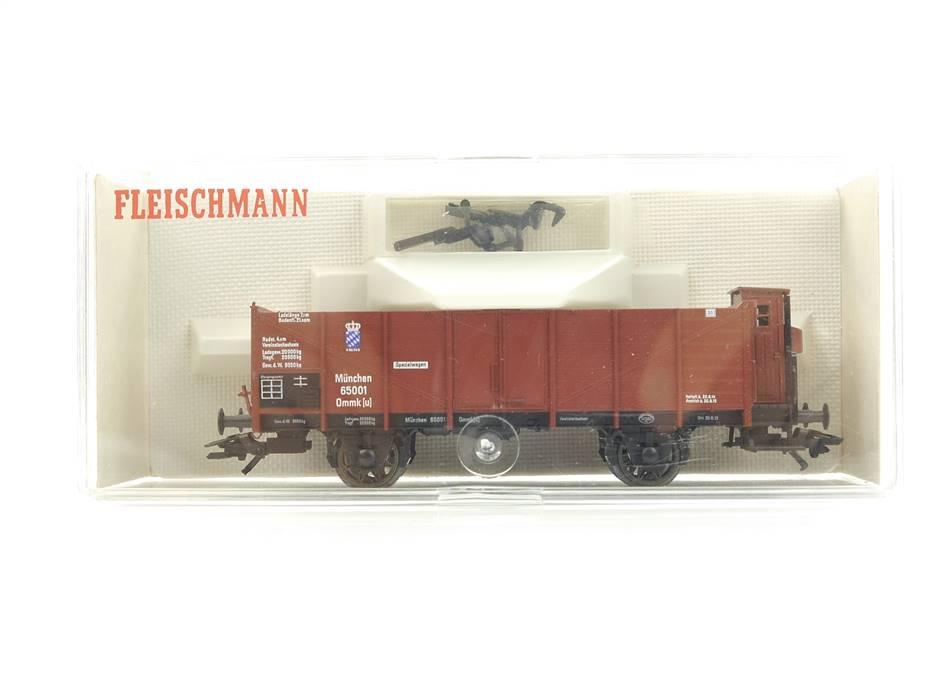 E332 Fleischmann H0 5863 K Güterwagen mit Bremserhaus 65001 K.Bay.Sts.B. *TOP*