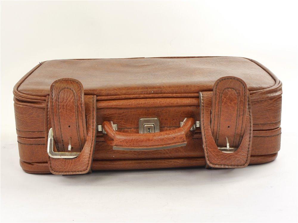 E125 Aktenkoffer Aktentasche mit Schloss braun / ca. 45,5 x 36,5 x 16 cm