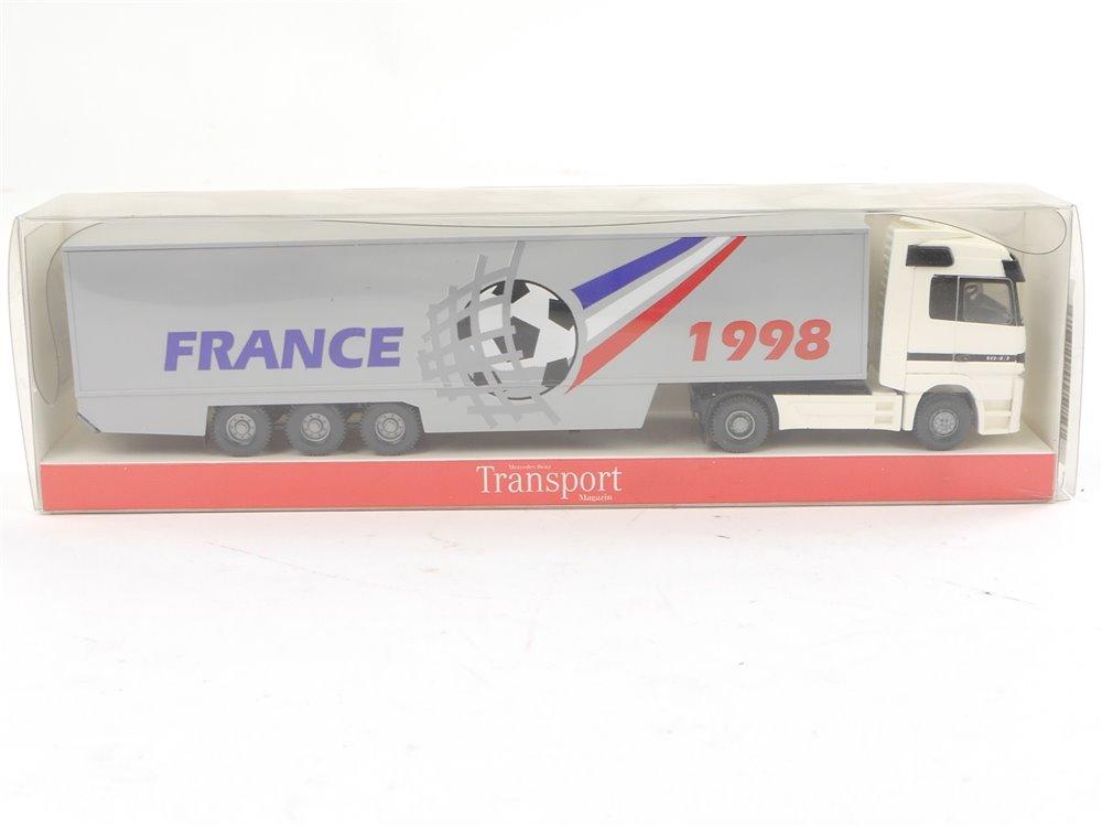 "E188 Wiking H0 Modellauto Sattelzug ""Fußball France 1998"" 1:87 *TOP*"