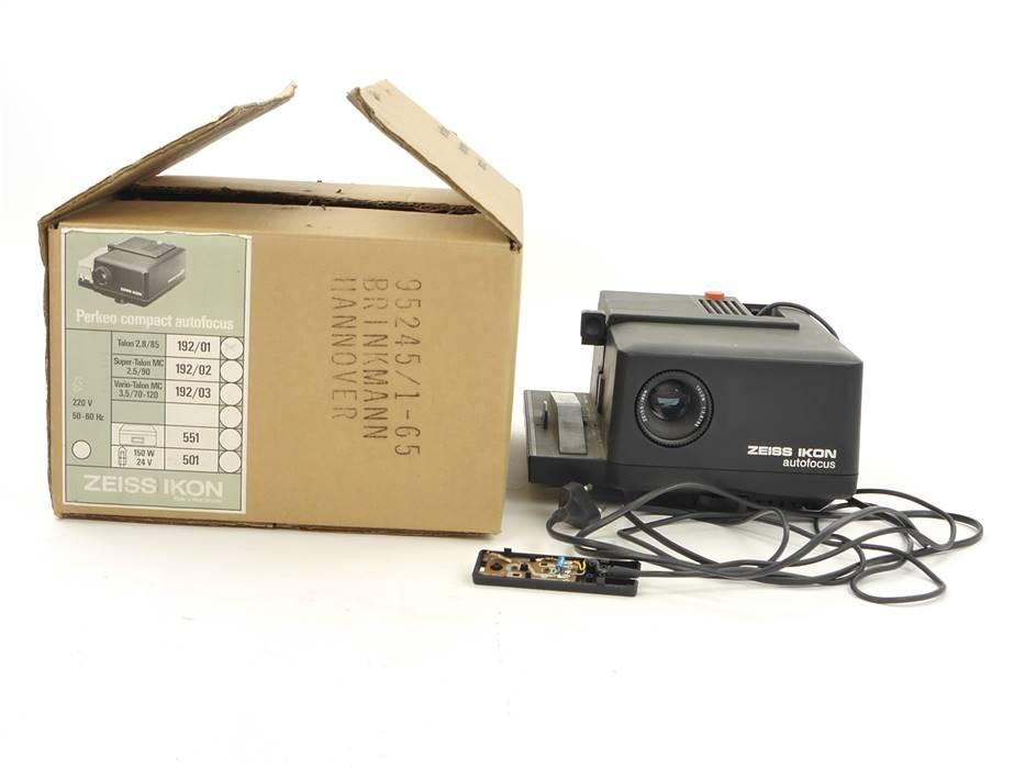 E169 Zeiss Ikon Diaprojektor Perkeo Compact Autofocus Talon 2,8/85mm