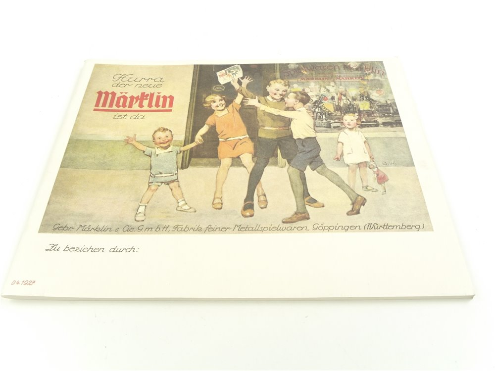 E278 Märklin H0 Katalog 1927 Reprint von 2001