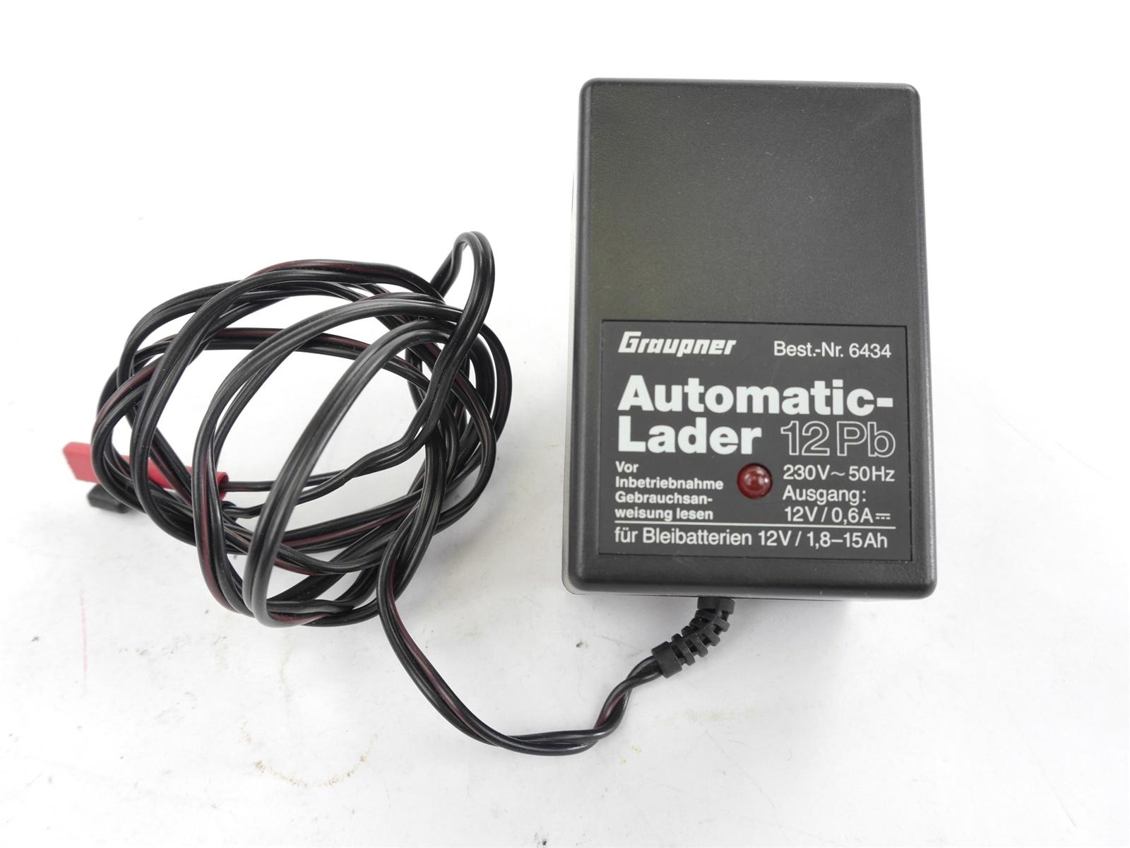 E122 Graupner 6434 Automaticlader 12 Pb 230 V ~ 50 Hz