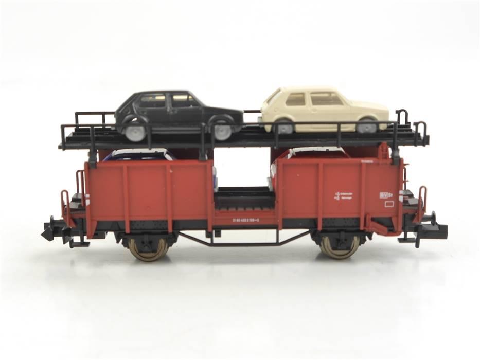 E330 Fleischmann N 8225 K Güterwagen Autotransportwagen 433 2 739-2 DB *TOP*