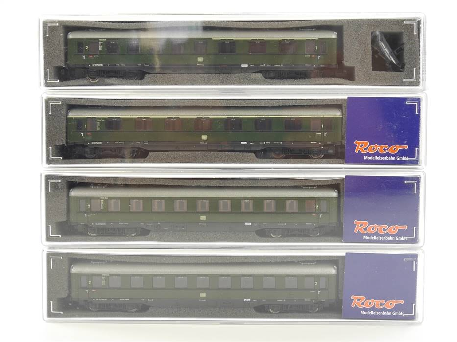 E307 Roco N 24550 24551 24552 4x Personenwagen 1./2. Klasse DB