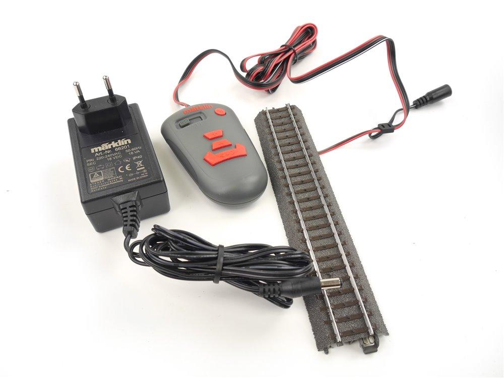 E265 Märklin H0 66201 Schaltnetzteil + 236131 Fahrregler + 24188 C-Gleis