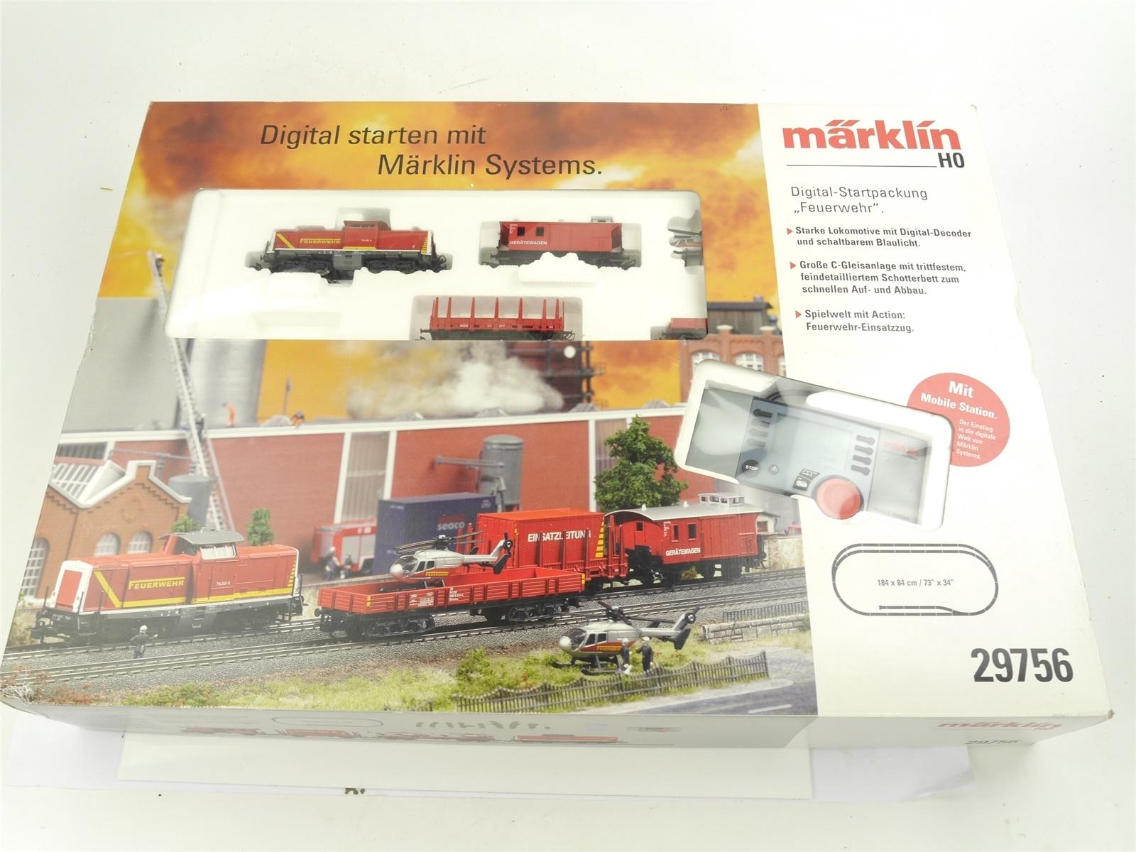 "E230 Märklin H0 29756 Startset ""Feuerwehr"" Diesellok BR 714 / NEM Digital"