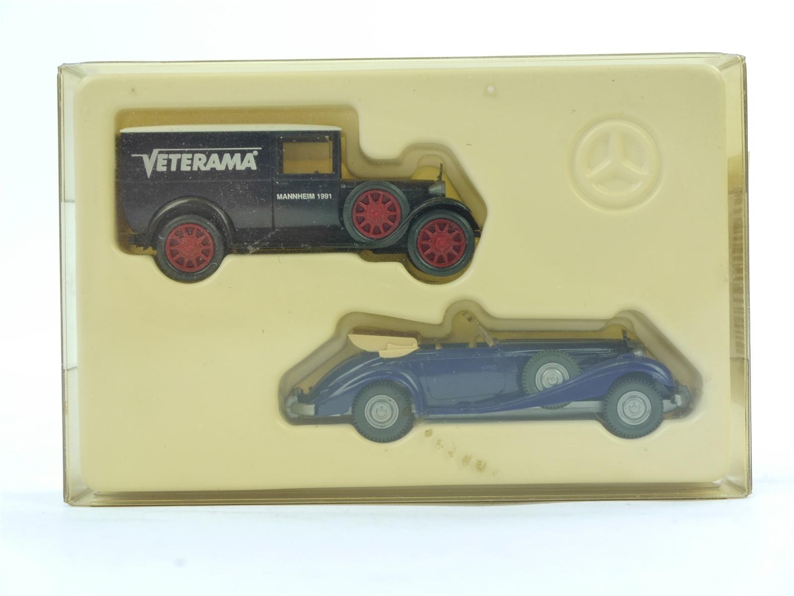 "E188 Wiking H0 835 Modellauto-Set 2-tlg. MB ""Veterama Mannheim 1991""1:87 *TOP*"