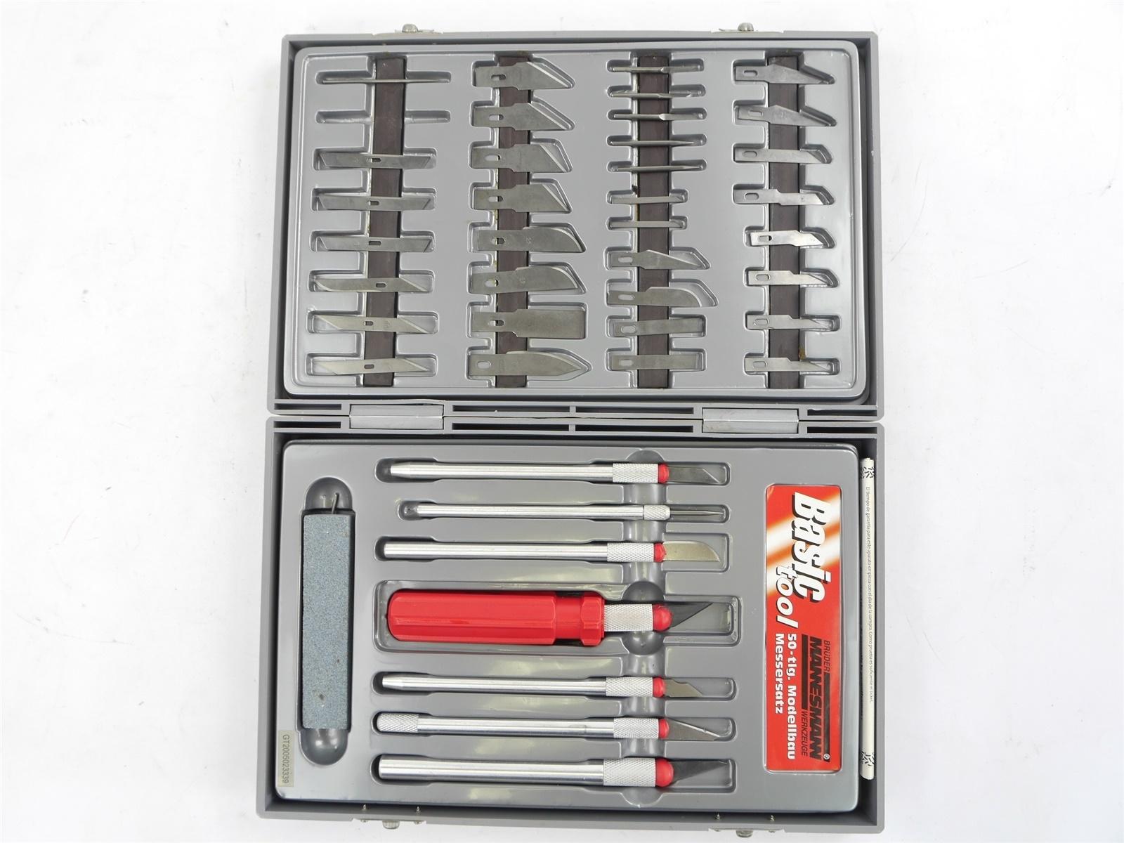 E122 Mannesmann Werkzeug-Set Messersatz Messer Skalpell für Modellbau