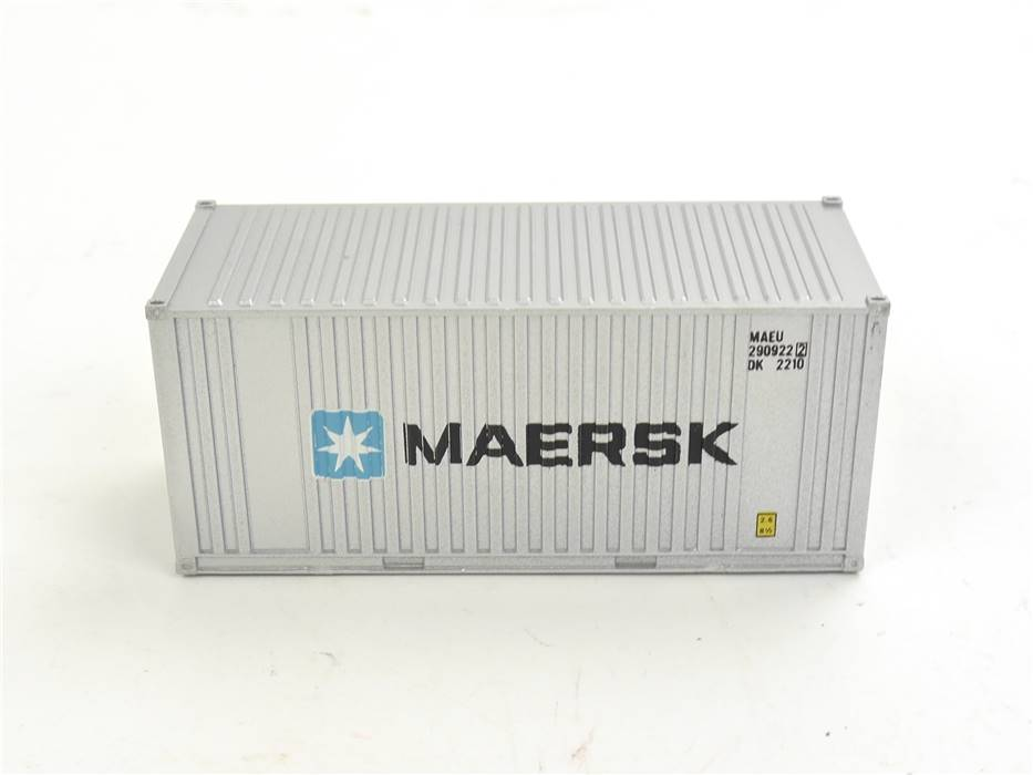 """E169 Walthers H0 8001 Ausschmückung Ladegut Ladung 20ft Container """"MAERSK"""""""