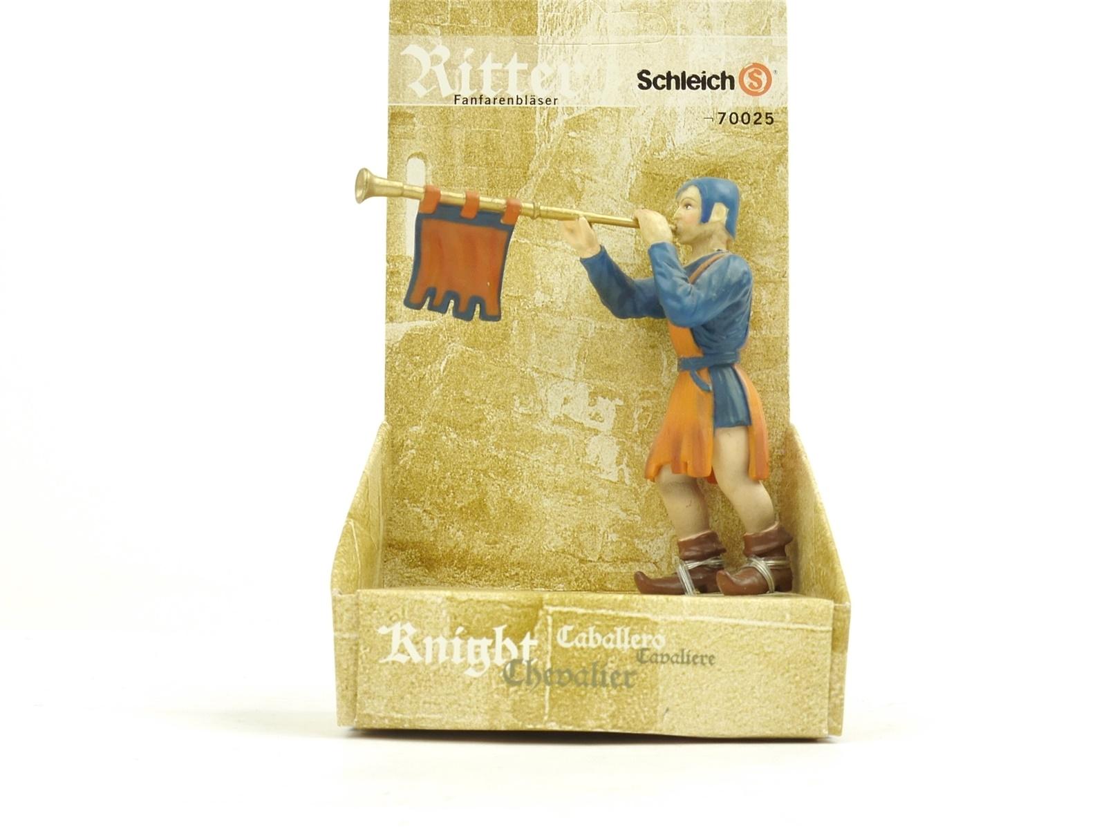 E198 Schleich 70025 Figur Ritter Fanfarenbläser Trompeter Hofwelt *WIE NEU*