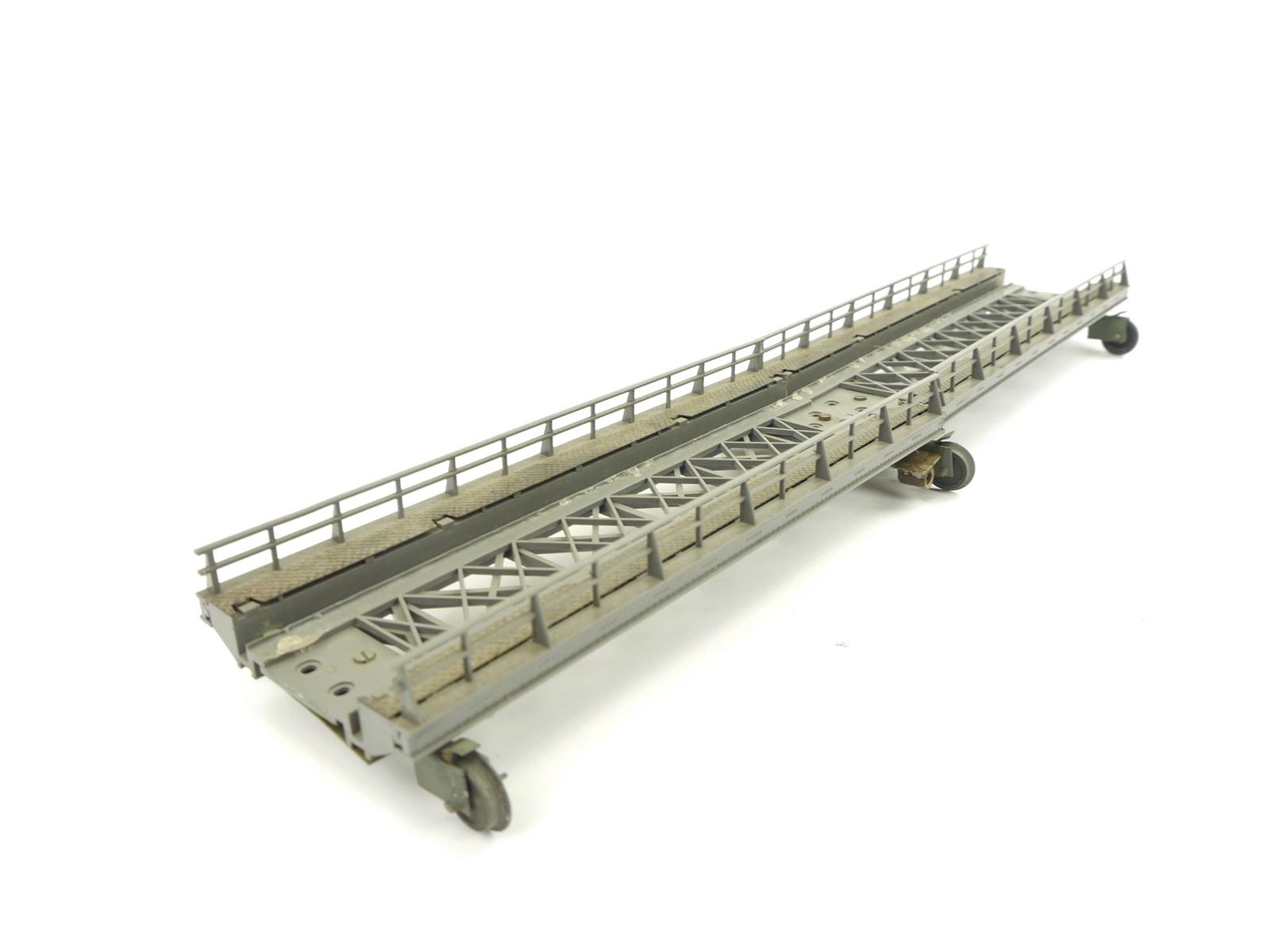 E234 Märklin H0 2x Brücke Rampe Gerade mit Metall für C-Gleis / Umbau mit Rollen