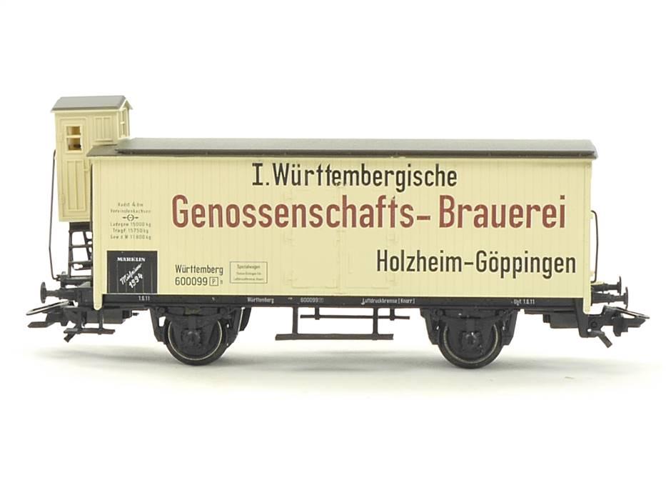 E332 Märklin H0 Güterwagen Bierwagen Württ. Genossenschafts Brauerei / NEM