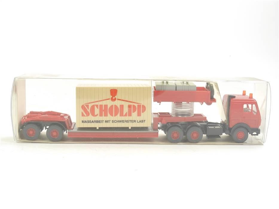 """E169 Wiking H0 29 504 Modellauto LKW Schwerlastzug MB """"SCHLOPP"""" 1:87 *TOP*"""