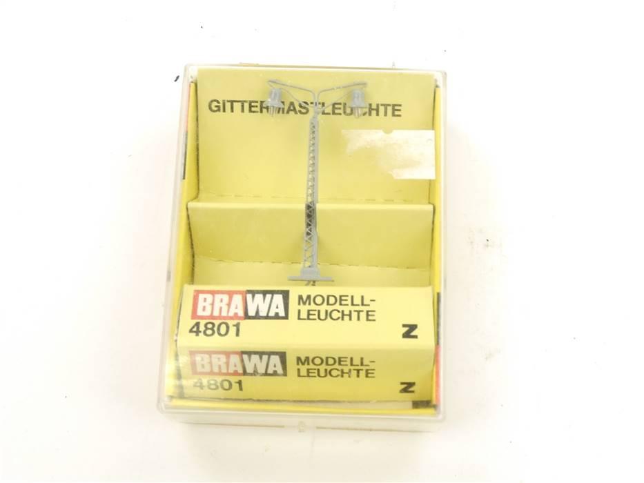 E314 Brawa Z 4801 Lampe Leuchte Gittermastleuchte 2-flammig *geprüft*