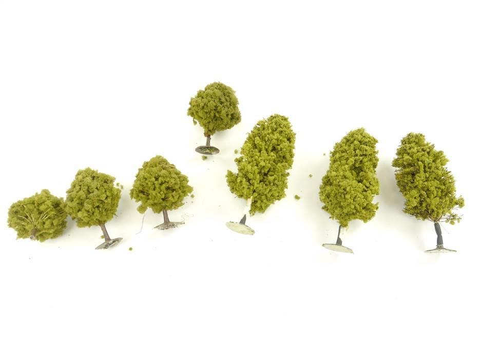 E266 H0 7x Landschaftsbau Bäume Laubbäume Sommerbäume / ca. 6-10,5 cm