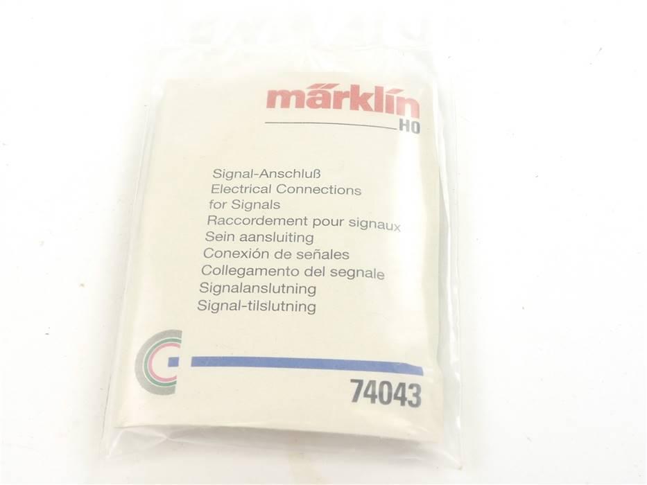 E286 Märklin H0 74043 C-Gleis Anschlussgarnitur für Signale *NEU*