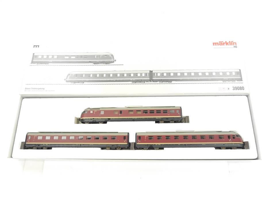 E324 Märklin H0 39080 Diesel-Triebwagenzug VT 08.5 DB / Sound DSS mfx Digital