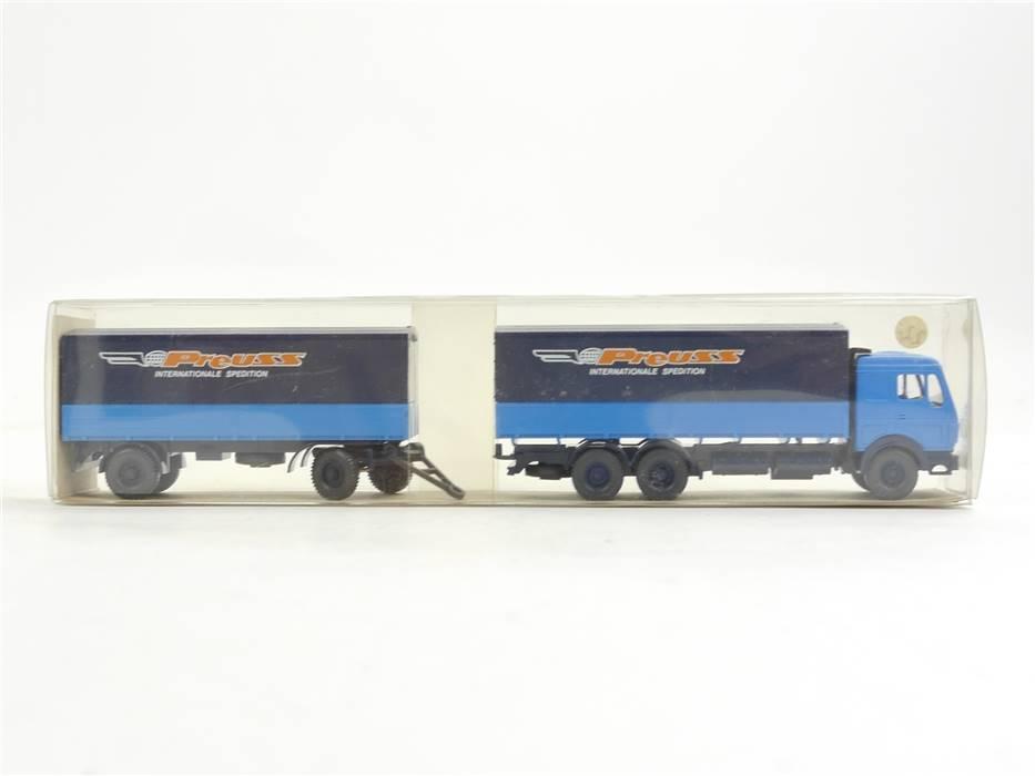 E169 Wiking H0 26 456 Modellauto LKW Pritschen-Lastzug MB 2238 1:87 *TOP*