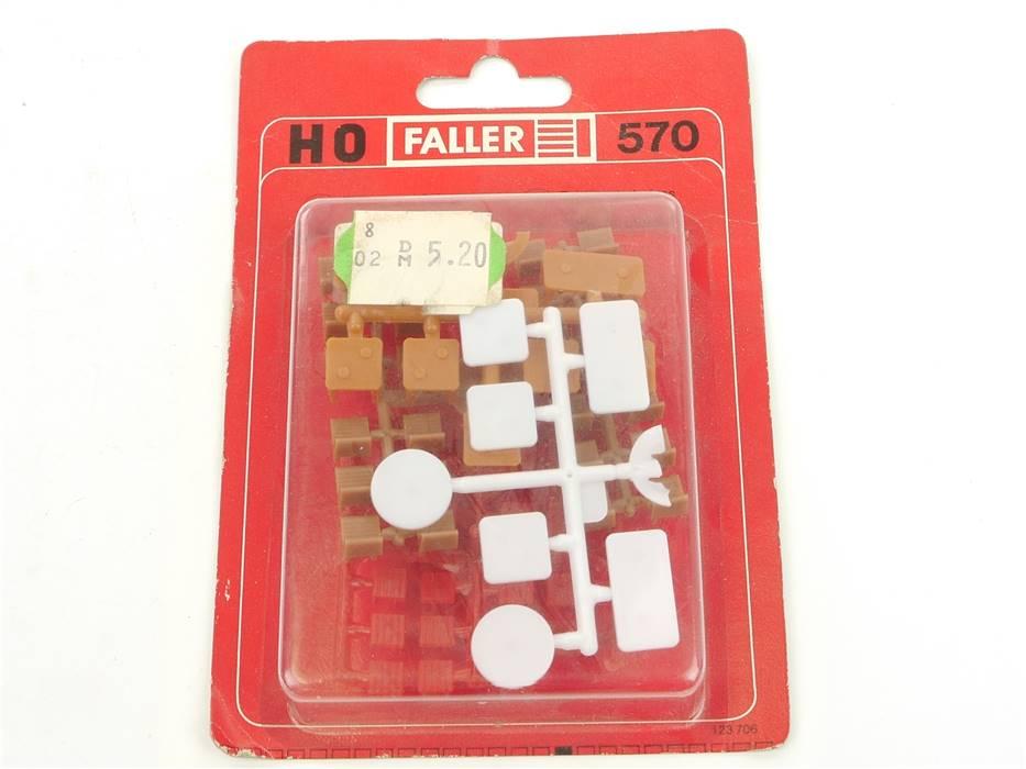 E169 Faller H0 570 Ausschmückung Ausgestaltung Tische Stühle vers. Farben *NEU*
