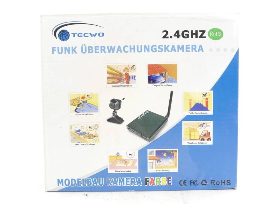 E322 Tecwo 811 Funk Überwachungskamera inkl. Mikro 2.4 GHz / PAL