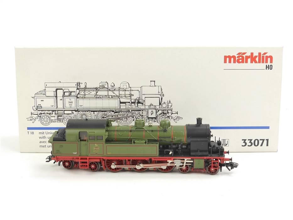 E332 Märklin H0 33071 Dampflok C T18 BR 1140 K.W.St.E. / Delta Digital NEM *TOP*