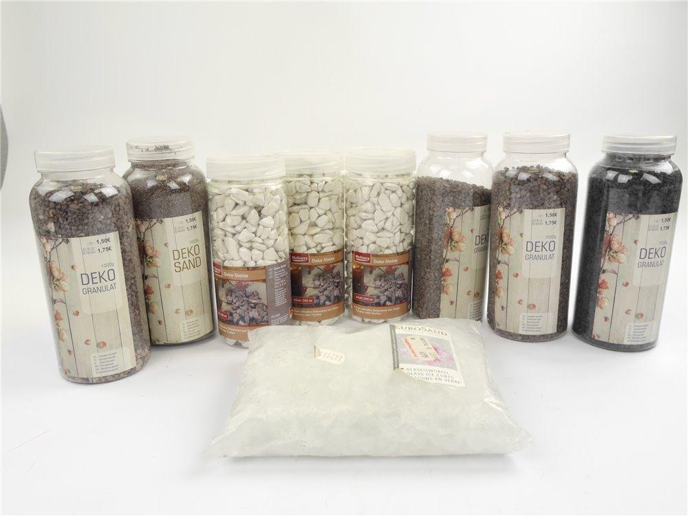 E240 Tedi Melinera / Streumaterial Deko-Steine Deko-Sand Granulat Glaseiswürfel