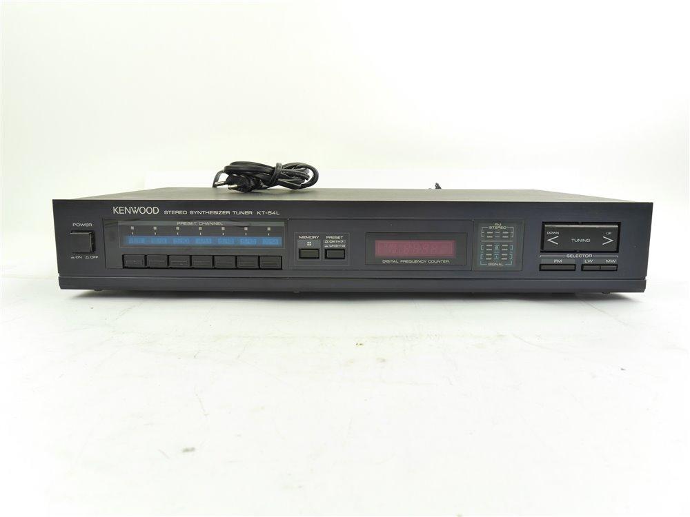 E254 KENWOOD Stereo Synthesizer Tuner KT-54L + Bedienungsanleitung