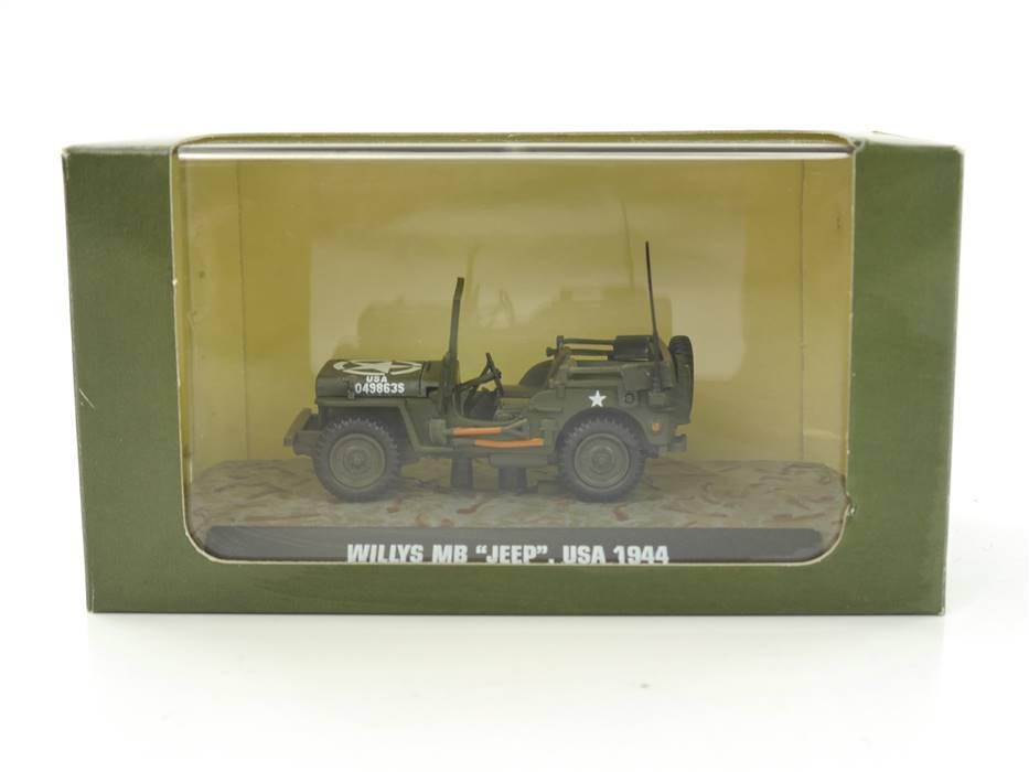 """E332b Atlas 7123101 Militärfahrzeug """"Willys MB Jeep, USA 1944"""" 1:43 *TOP*"""