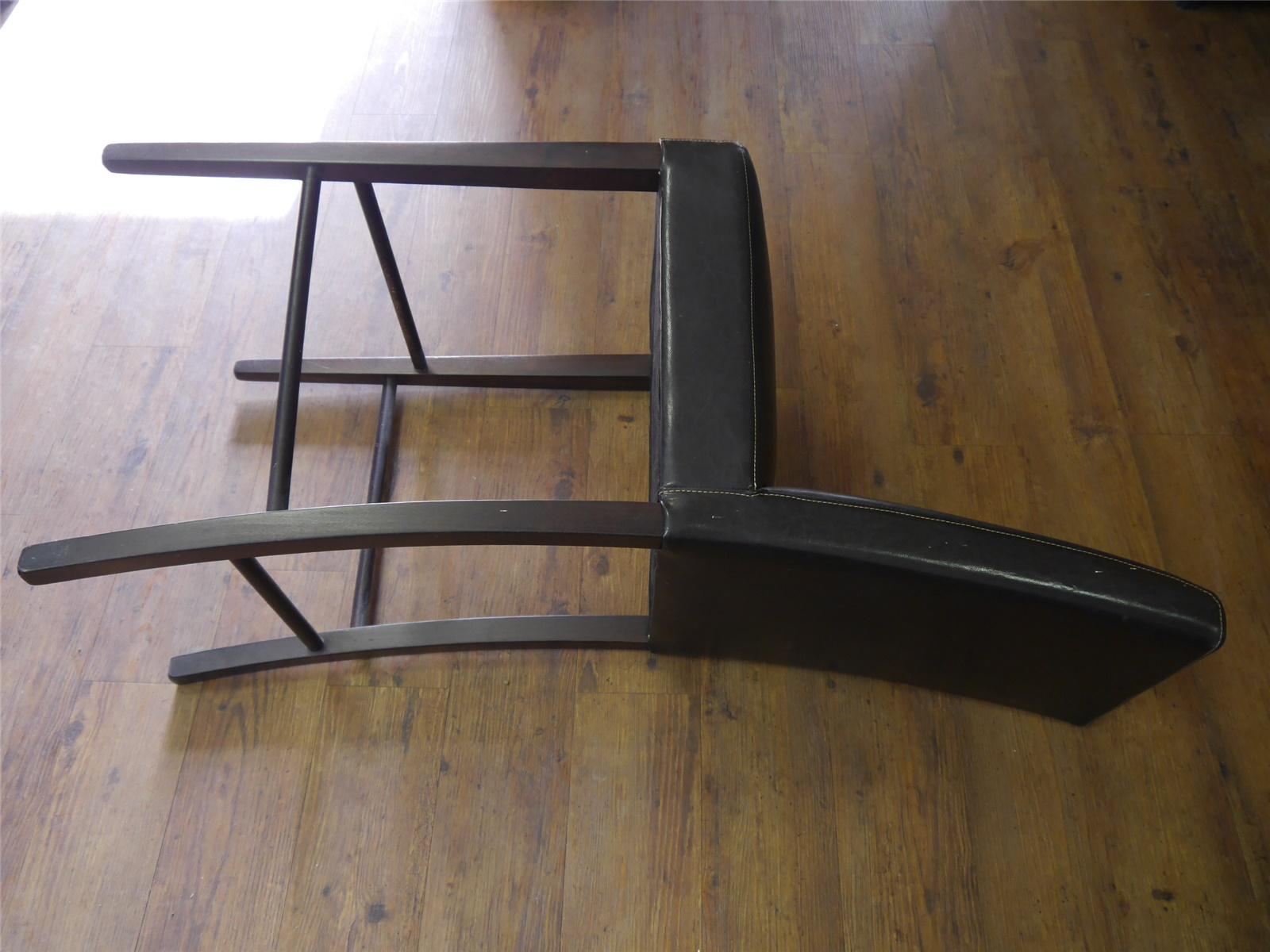 E234 Barhocker Barstuhl mit Rückenlehne / Kunstleder dunkelbraun / Nur Abholer