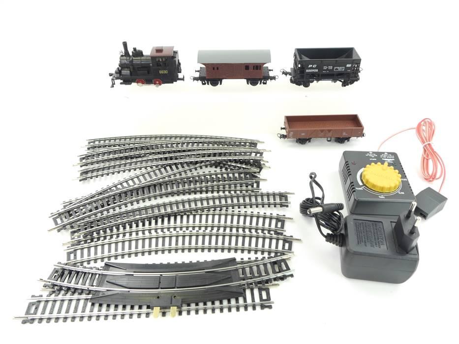 """E297 Mehano H0 aus T109 Güterzug """"Western Train"""" mit Dampflok 6630 und Zubehör"""