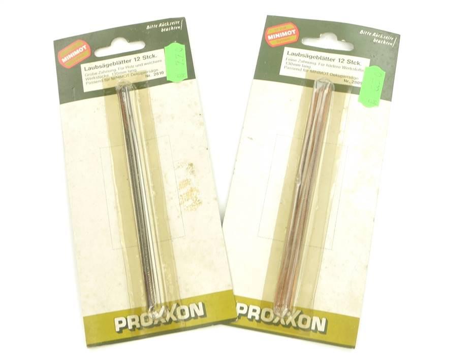 E293 Proxxon 2810 2x Laubsägeblätter je 12 Stk. 130 mm lang *NEU*