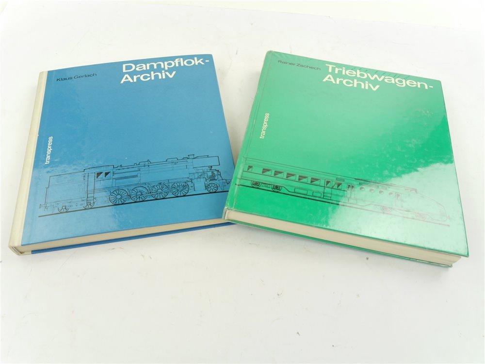 "E262 transpress 2x Buch ""Triebwagen-Archiv"" ""Dampflok-Archiv"