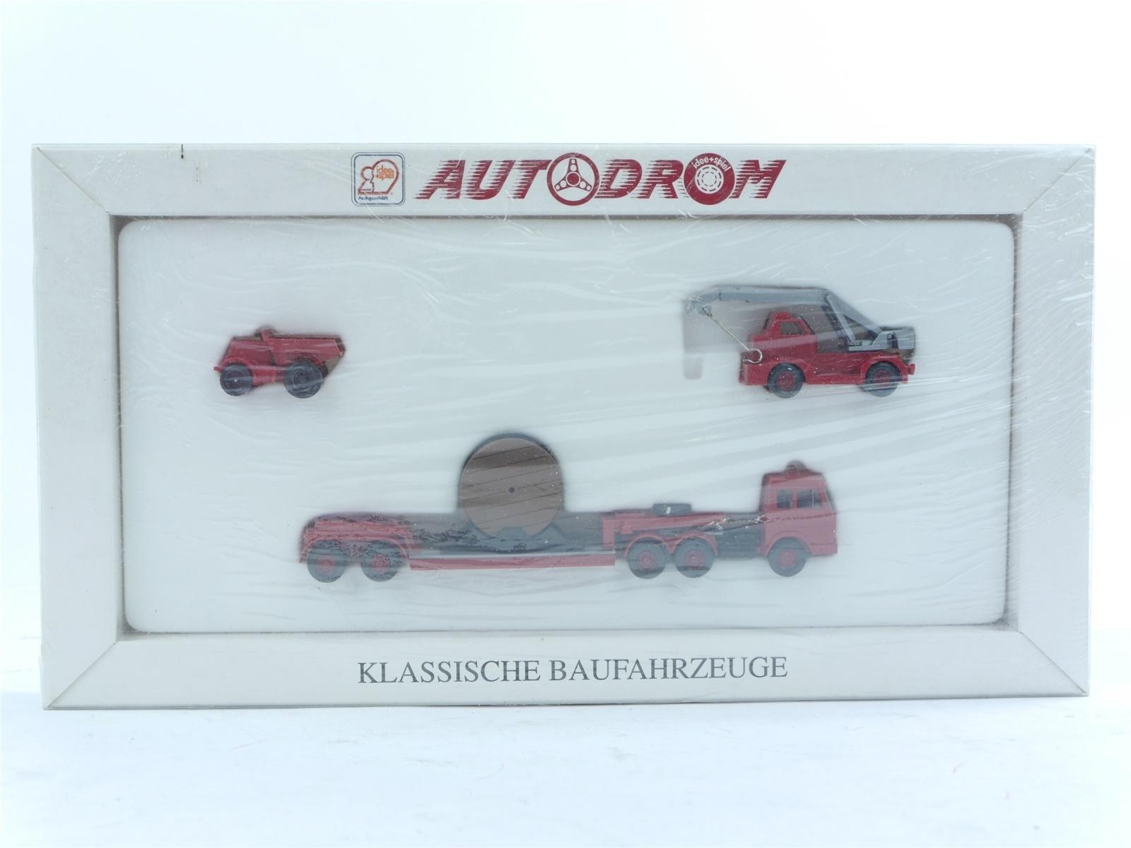 """E188 Wiking H0 990 08 Modellauto-Set 3-tlg. """"Klassische Baufahrzeuge"""" *NEU*"""