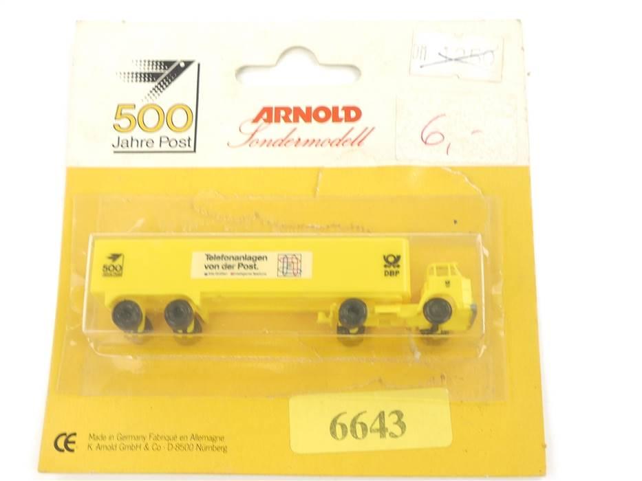 "E289 Arnold N 6643 Modellauto LKW Sattelzug ""500 Jahre Post"" 1:160 *TOP*"