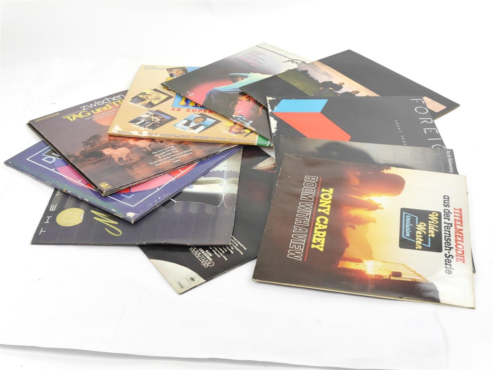 E122 11x Vinyl Schallplatte - vers. Interpreten u.a. Santana Bee Gees / ca. 3 kg