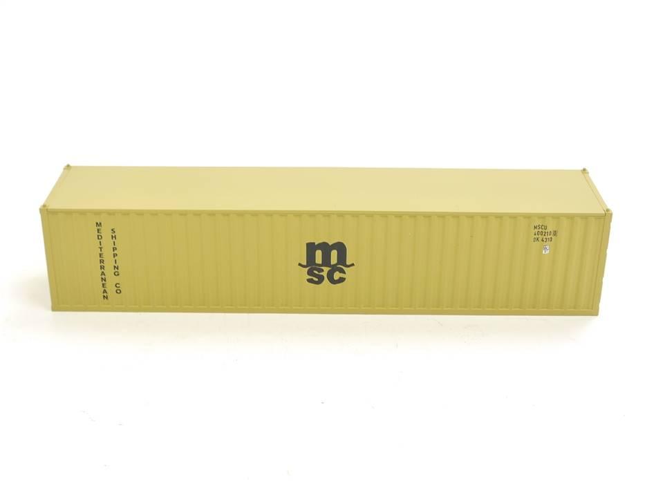 """E169 Fleischmann H0 Ausschmückung Ladegut Ladung 40ft Container """"msc"""""""