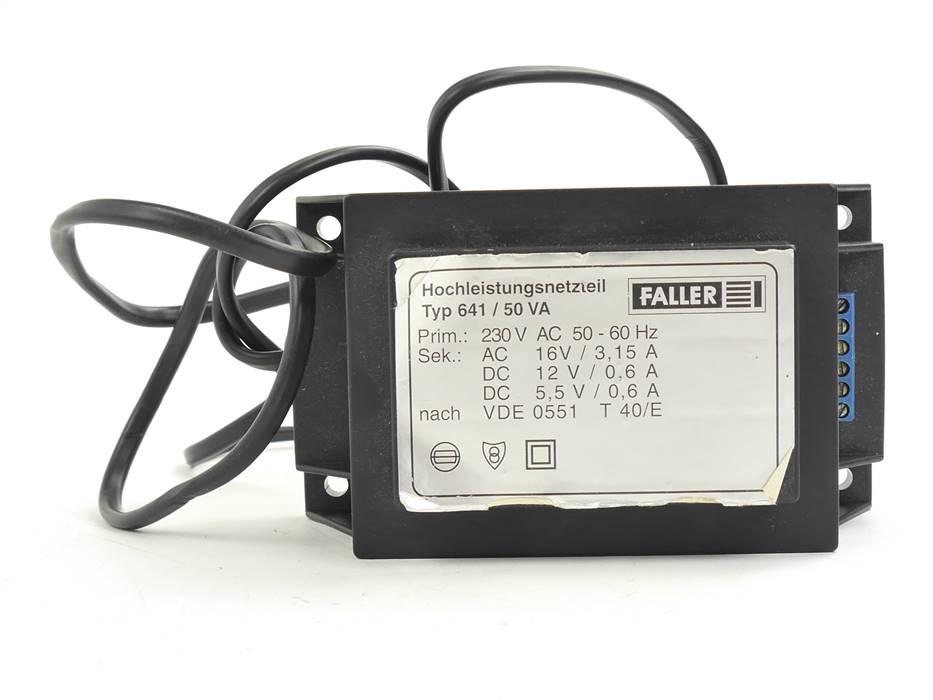 E330 Faller Typ 641 Hochleistungsnetzteil 230 V / 50 VA