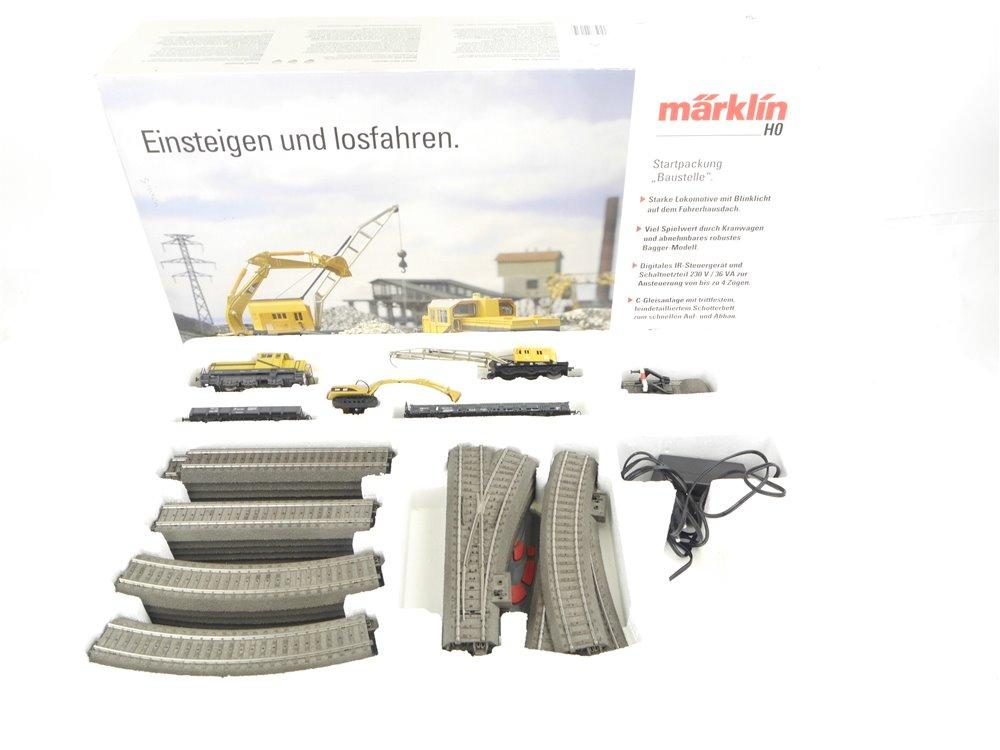E280 Märklin H0 29181 Startset 40-tlg. Baustellenzug DHG 700 + Gleise / Digital